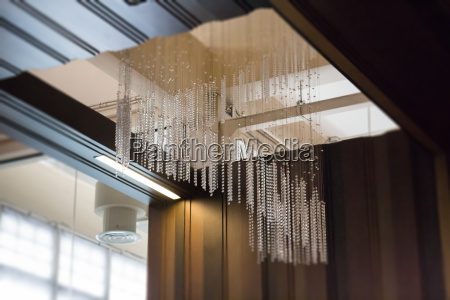crystal line mobiles chandelier from ceiling