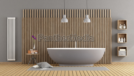 modern bathroom with bathtub