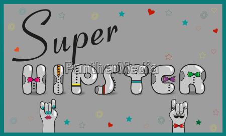 super hipster artistic gray font