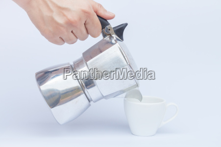 moka pot isolated on white background