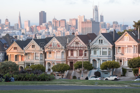 sunset over the painted ladies