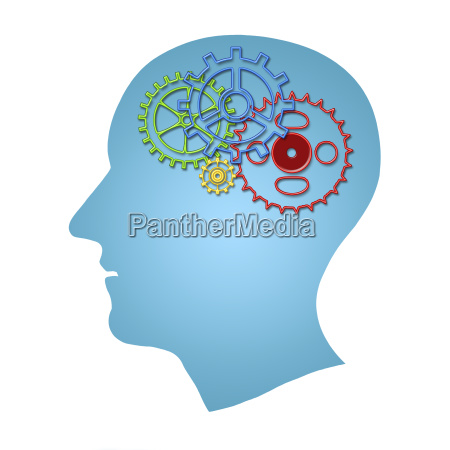 brain works concept thinking creativity concept