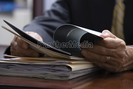 businessman looking at paperwork