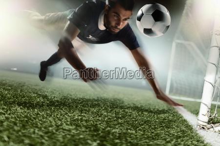 soccer player heading soccer ball