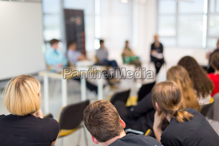 round table discussion at business and