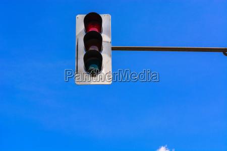 traffic lights and surveillance camera