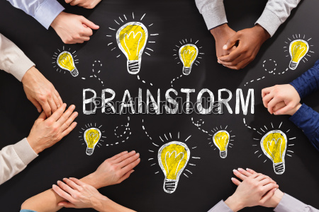 brainstorm concept on blackboard