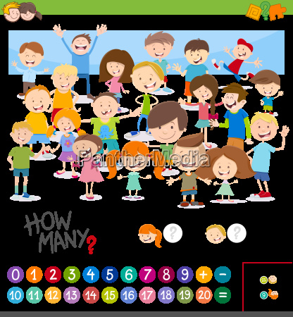cartoon game of counting children