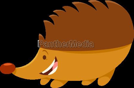 hedgehog cartoon animal character