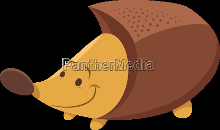 cute hedgehog cartoon animal character