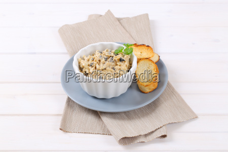 grated cheese and olive spread with