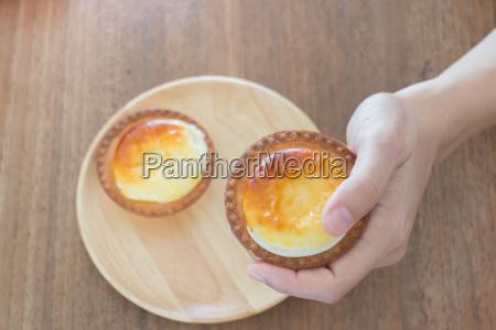 delicious mini cheese tart dessert