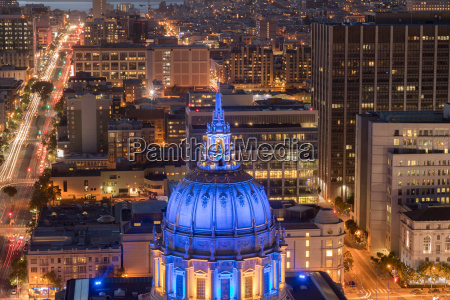 aerial view of san francisco city