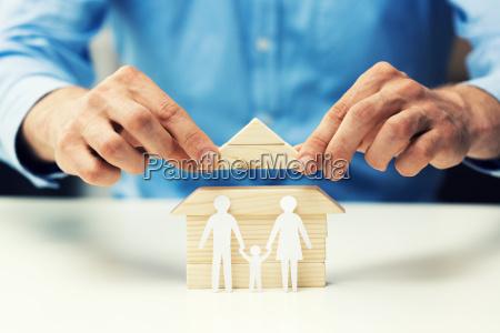 house mortgage concept bank salesman