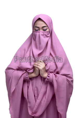 religious asian muslim woman with niqab
