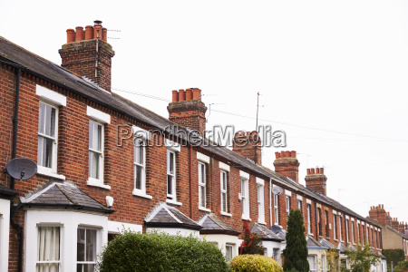 exterior of victorian terraced houses in