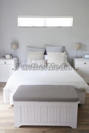 interior of stylish contemporary bedroom