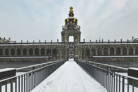 germany dresden zwinger palace in winter