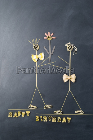 pasta image with male and female