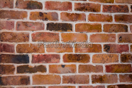 red brick with an orange tint