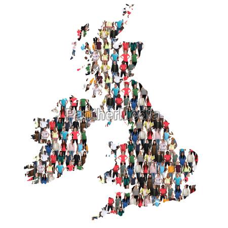 great britain ireland map people people