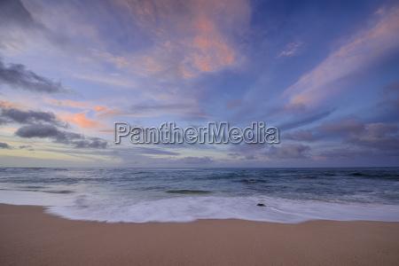 usa hawaii oahu sunset and surf