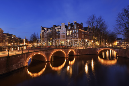 netherlands amsterdam bridge over keizersgracht and