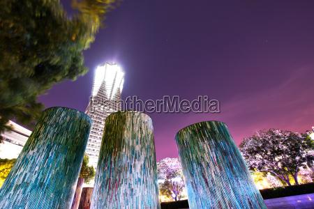 decorative illuminated architectural design elements at