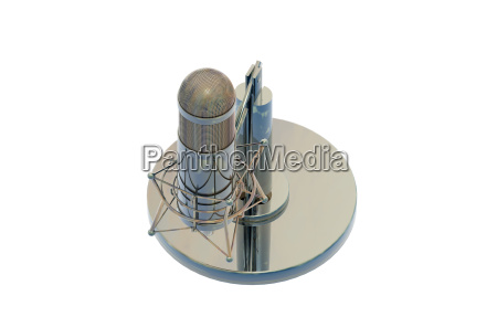 old microphone in recording studio released