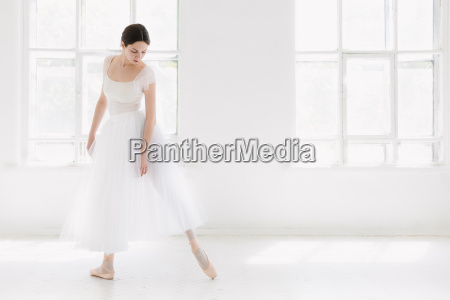 young and incredibly beautiful ballerina is