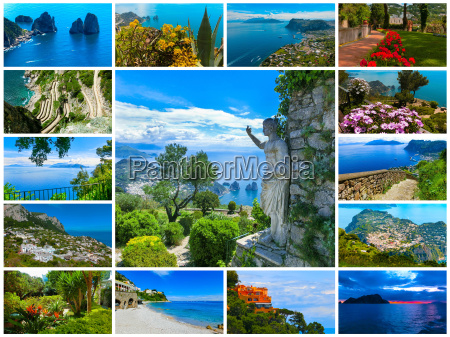 capri beautiful and famous island in