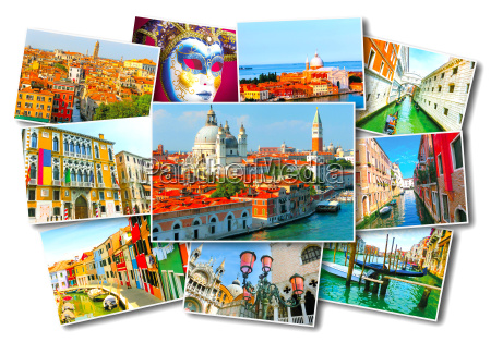 collage of images from venice