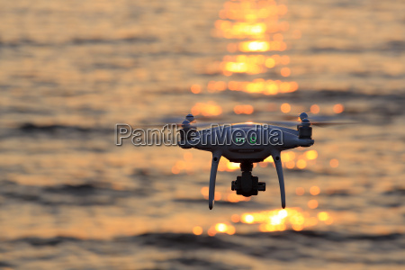 drone flying in air and sparkle