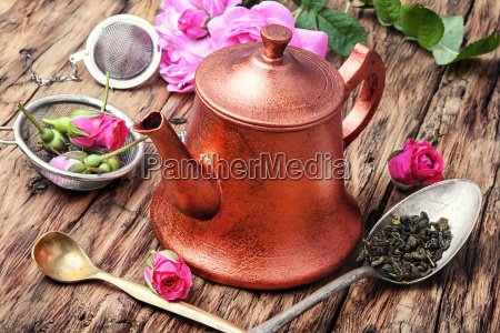 herb tea made from tea rose