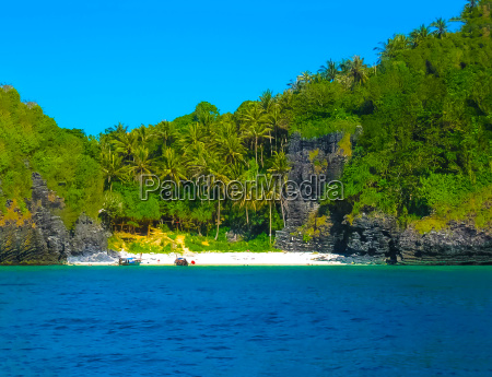 tropical landscape the island at andaman
