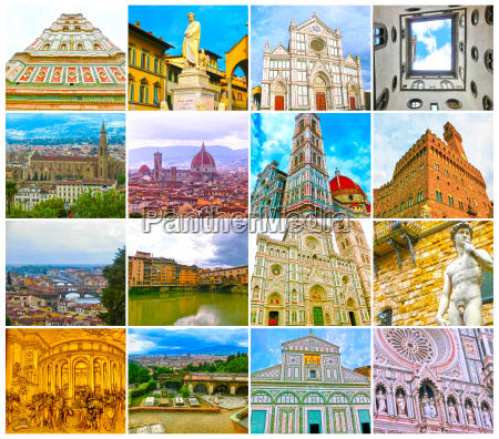 collage from views of the florence