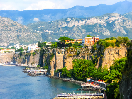 view of the coast in sorrento