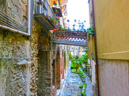 view over the street in taormina