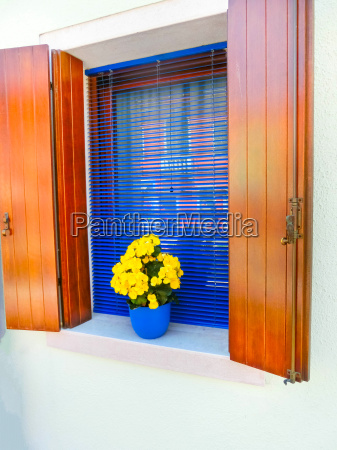 colorful window at house on the