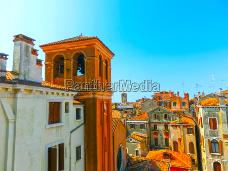 city roofs in venice italy