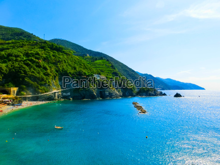 the view of monterosso italy