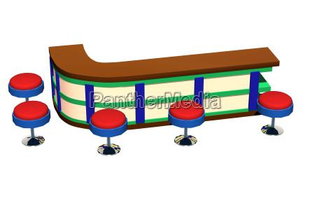 bar counter with bar stools free