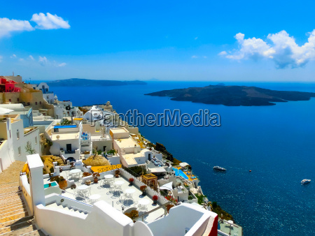 view to the sea from fira
