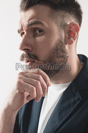 young attractive macho stylish fashionable guy