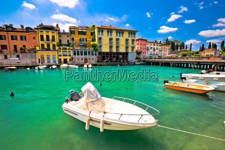 peschiera del garda colorful harbor and
