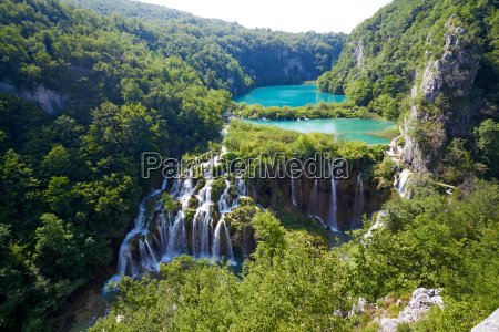 fantastic view in the plitvice lakes