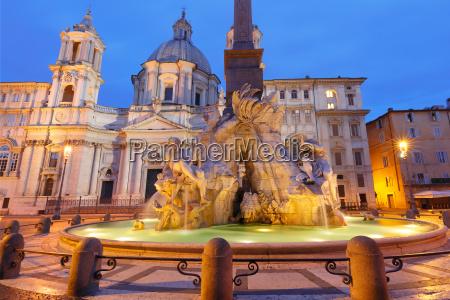 piazza navona square at night rome