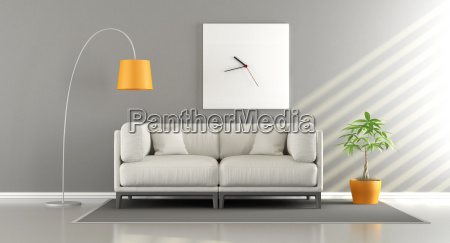 modern room with sofa