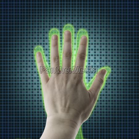 ai hand reaches towards a human