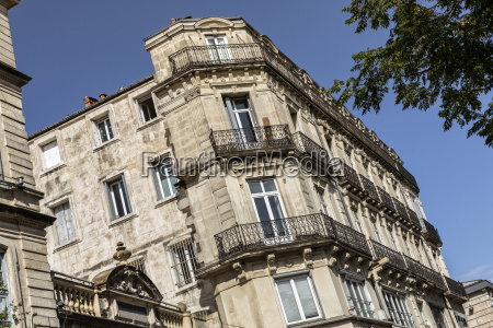 historic building in montpellier southern france